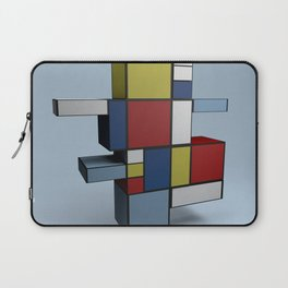 Composition with Red Blue and Yellow Laptop Sleeve