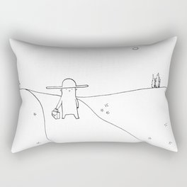 On My Way Rectangular Pillow