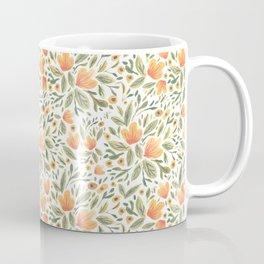 Peachy Flower Medley Coffee Mug