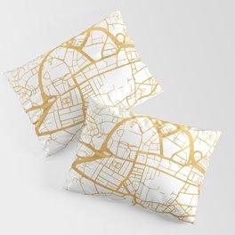 LEEDS ENGLAND CITY STREET MAP ART Pillow Sham