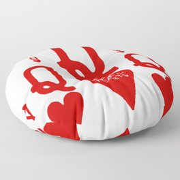 RED QUEEN OF HEARTS FROM SOCIETY6 Floor Pillow