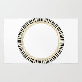 Pianom Keys Circle Rug