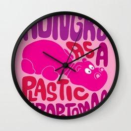 Hungry as Plastic Hippopotamus  Wall Clock