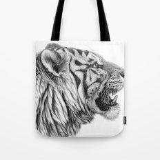 White Tiger Profile Tote Bag