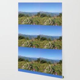 Mountain flowers Wallpaper