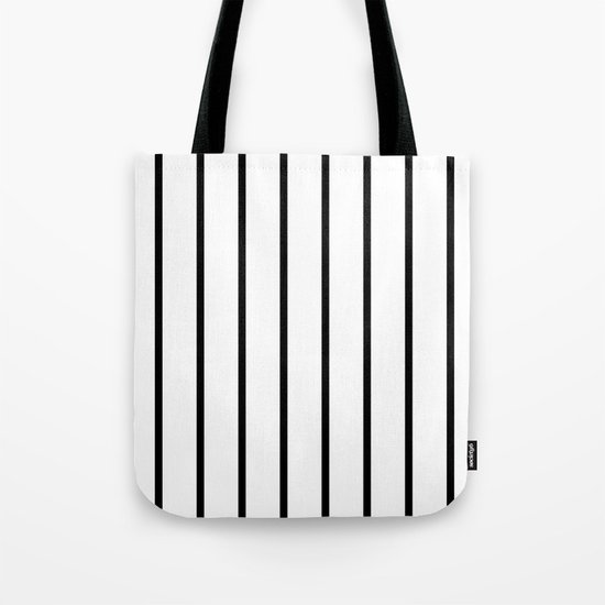 Vertical Lines (Black & White Pattern) by luxelab