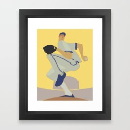Here Comes the Curve Framed Art Print