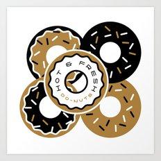 Hot and Fresh Donuts Art Print