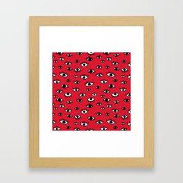 Shifty Eyes Framed Art Print