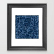Electropattern (Blue) Framed Art Print