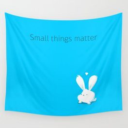 Small things matter Wall Tapestry