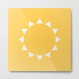 Yellow Sun Metal Print