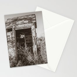 Outhouse, Hurd Round House, ND 3 Stationery Cards