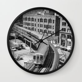Brown Line Wall Clock