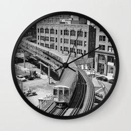 Brown Line Wall Clock