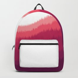 Layered Forest Hills - Purple to Pink Backpack