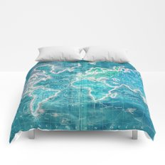 The World - Sans Type Comforters