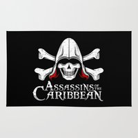assassins creed Area & Throw Rugs featuring Assassins of the Caribbean by adho1982