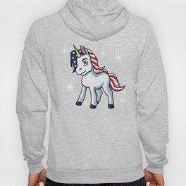 Americorn | Patriotic Unicorn Independence Day USA Hoody