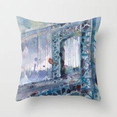 George Washington Bridge - 2014 Throw Pillow