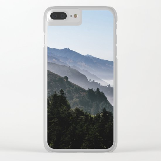 Blue Valley view Clear iPhone Case