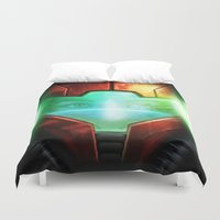 metroid Duvet Covers featuring Metroid by Joe Roberts