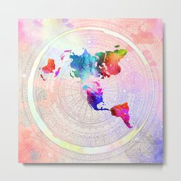 Flat Earth Metal Print