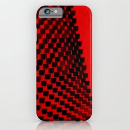 Eye Play in Black and Red iPhone Case