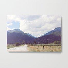 Montana Back Roads Metal Print