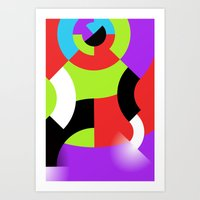 gamer Art Prints featuring Gamer by DARWIN STEAD