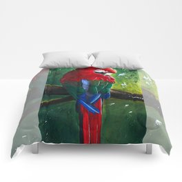 """Aras parrot - """"A morning like the others"""" - by LiliFlore Comforters"""