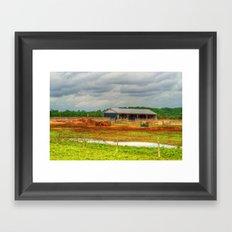 The Little Farm Framed Art Print