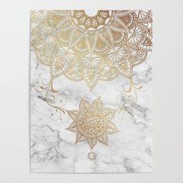 Mandala - Golden drop Poster