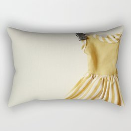 Doll Closet Series - Mustard Stripe Dress Rectangular Pillow