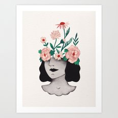 Flower head Art Print
