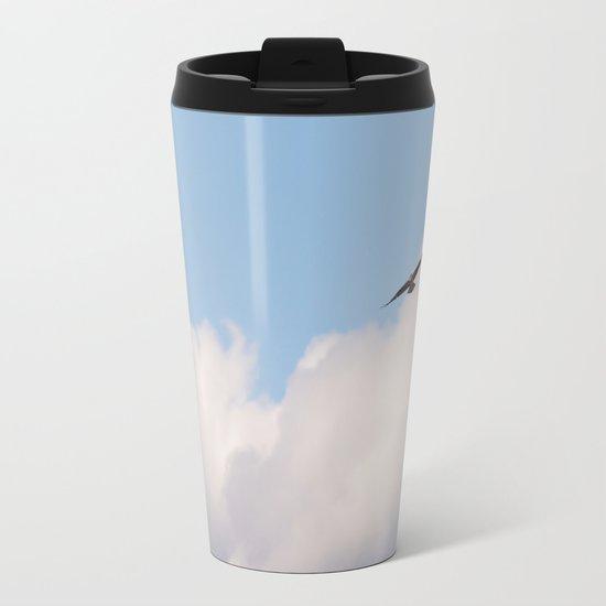 Osprey in Sky Metal Travel Mug