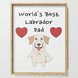 World's Best Labrador Dad   Cute Dog Father Design Serving Tray