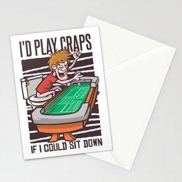 Spielen an einem Craps Tisch Stationery Cards