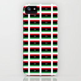 flag of libya-Libyan,Tripoli,benghazi,misurata,bayda,cyrenaica iPhone Case