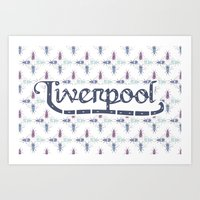 liverpool Art Prints featuring Liverpool  by Cory Wilcox