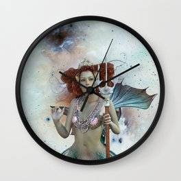 Space Siren: Mermaids of the Sky Wall Clock