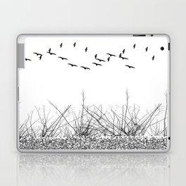 black and white winter landscape Laptop & iPad Skin