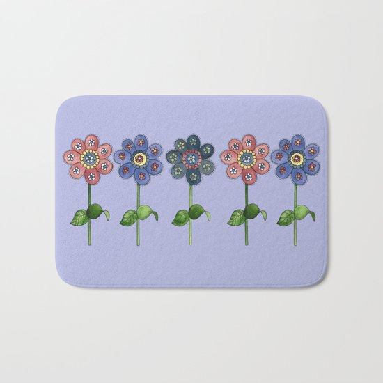 Flower Row Bath Mat