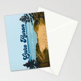 Lake Huron Retro Stationery Cards