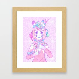 Miss Muffet Framed Art Print