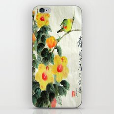 green bird sensations iPhone & iPod Skin