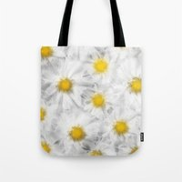 daisies Tote Bags featuring Daisies by Klara Acel