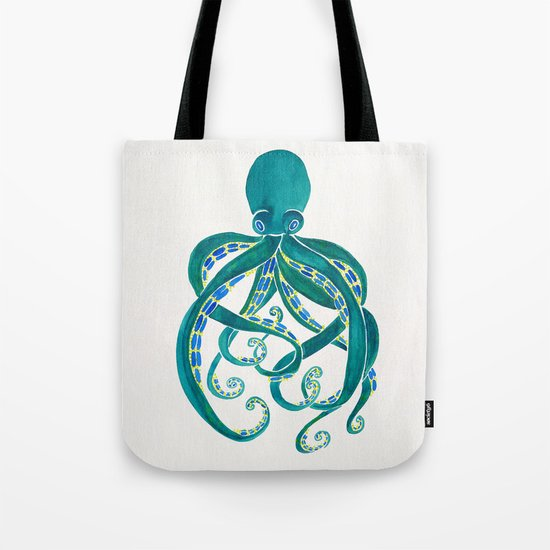 Watercolor Octopus Tote Bag