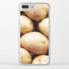 potato texture Clear iPhone Case
