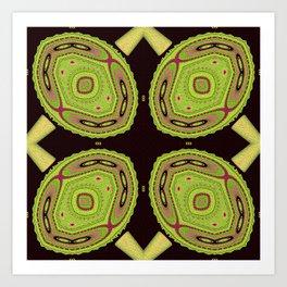 Chameleons Unite Abstract Pattern Art Print